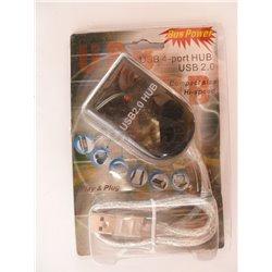 ROZGAŁĘŹNIK USB 2.0 4PORTOWY AKTYWNY