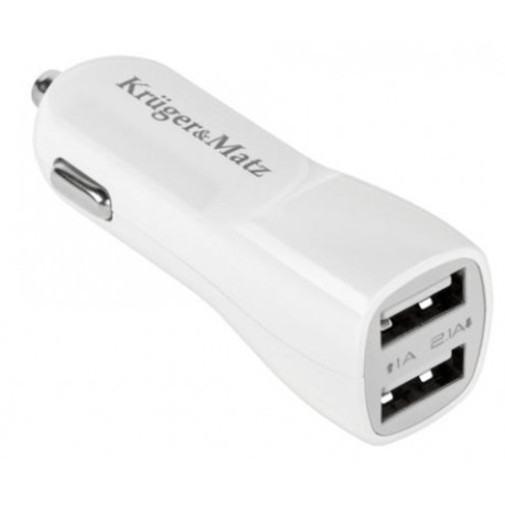 ŁADOWARKA SAMOCHODOWA DUAL USB 2,1A [Kruger & Matz] - KM0018