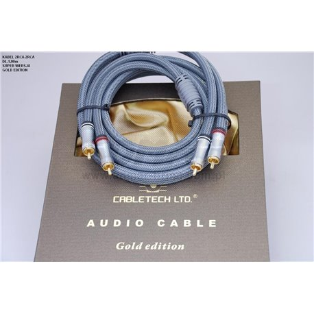 KABEL CINCH-CINCH 1,8GOLD EDITION